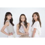 E-girlsのShizuka、藤井萩花、佐藤晴美がmu-moでバレンタイン応援企画