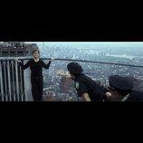 ジョセフ・G=レヴィットが地上411mを空中闊歩 『ザ・ウォーク』ワイヤーウォークシーン公開