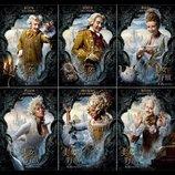 呪いにかけられた姿と元の人間の姿が! 『美女と野獣』お城の住人たちのキャラクターポスター