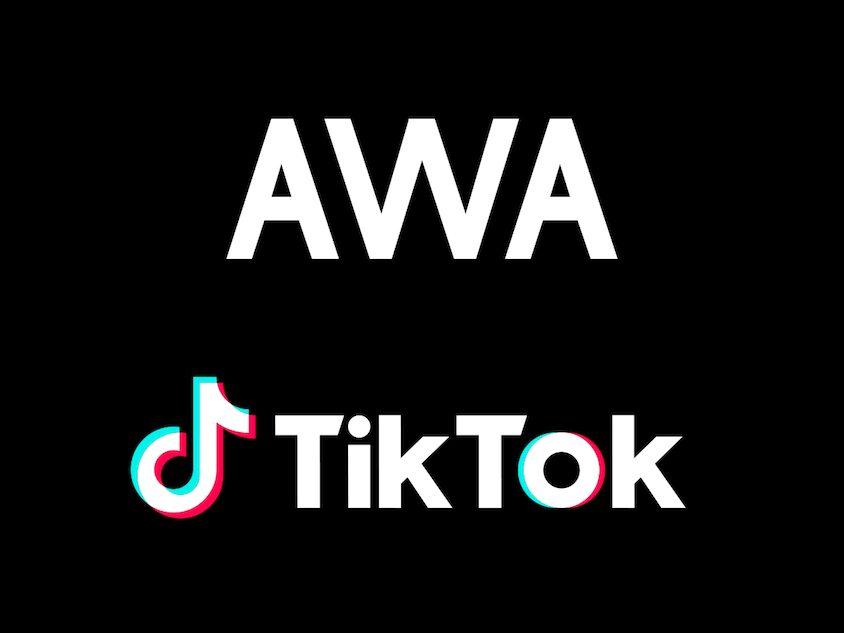 TikTokとAWAが業務提携 年内に500万曲まで追加予定