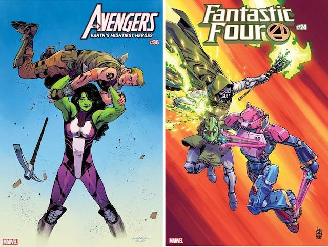 THE BEAT「Marvel spotlights FORTNITE season 4 crossover with a series of variant covers」